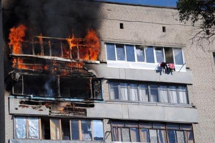ВСаратове из-за пожара вквартире эвакуировали жильцов многоэтажки