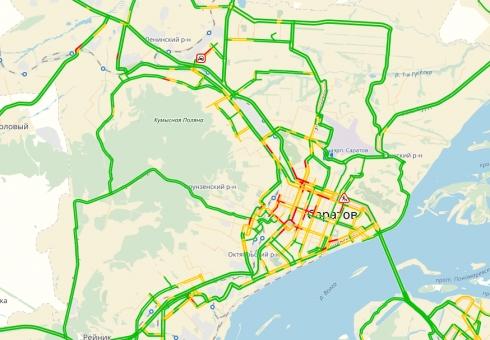 В столицеРФ пробки на трассах достигли 8-ми баллов